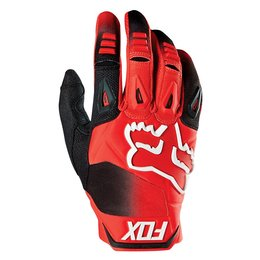 Fox Racing Mens Pawtector Race Gloves Red