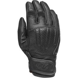 RSD Mens Barfly Leather Riding Gloves Black