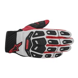 Cool Grey, Red Alpinestars Mens Atacama Air Textile Gloves 2014 Cool Grey Red