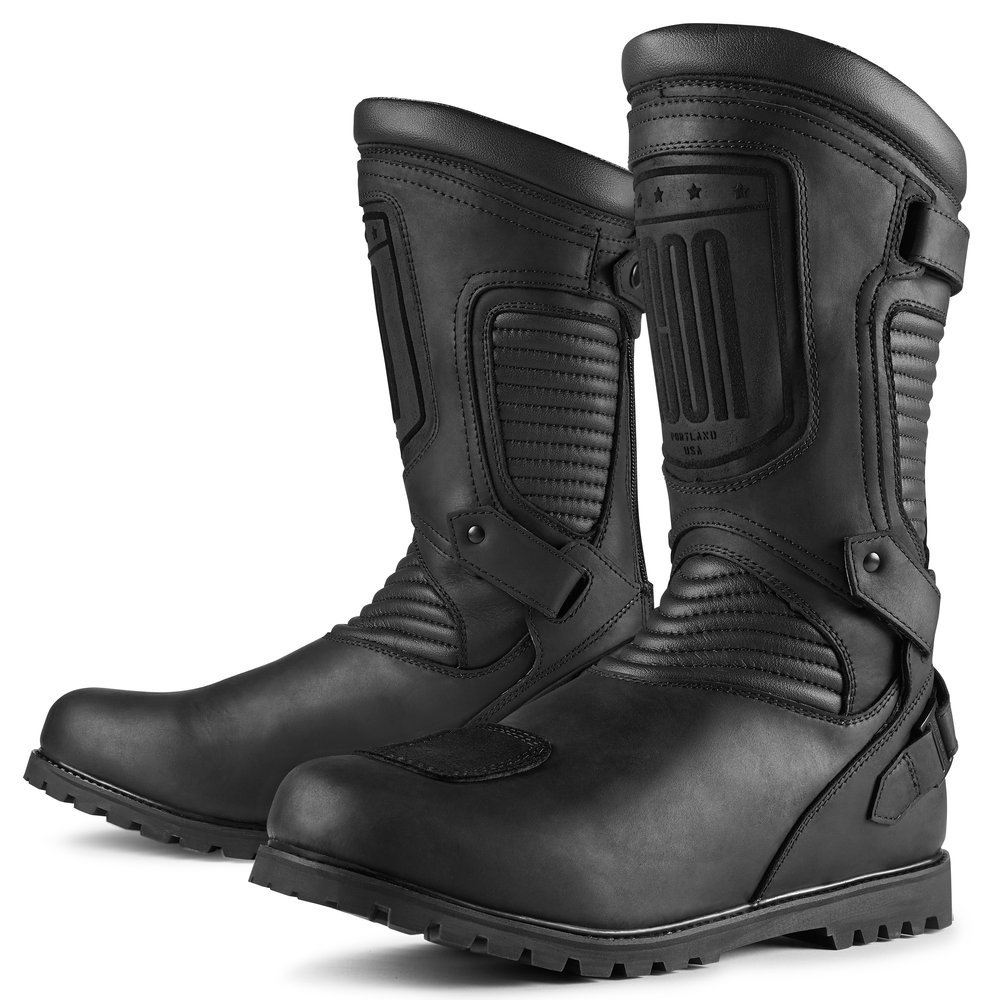 215 00 Icon Mens 1000 Collection Prep Leather Boots With