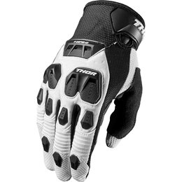 Thor Mens Defend Touch Screen Capable Textile Gloves White