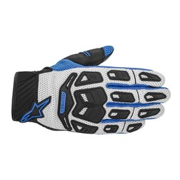 Cool Grey, Blue Alpinestars Mens Atacama Air Textile Gloves 2014 Cool Grey Blue