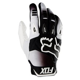 Fox Racing Mens Pawtector Race Gloves White