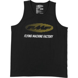 FMF Mens Stacked Cotton Tank Top Black