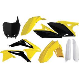 Acerbis Plastic Kit For Suzuki RM-Z250 2010-2011 Yellow Black White 2198030145 Yellow