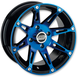 Moose Racing 387X UTV Front Wheel 12x7 4/136 4+3 Can-Am Anodized Blue 0230-0863 Black