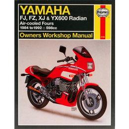 Haynes Repair Manual For Yamaha 84-90 FJ, FZ, XJ YX600 Radian Fours M2100 Unpainted