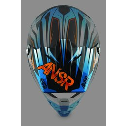 Blue, Orange Answer Replacement Visor For Evolve Sector Helmet Blue Orange