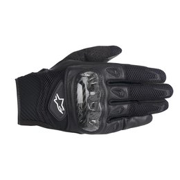 Black Alpinestars Mens Smx-2 Air Carbon Leather Textile Gloves 2014