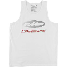 FMF Mens Stacked Cotton Tank Top White