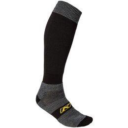 Klim Mens Coolmax Wool Blend Over The Calf Snowmobile Socks Black