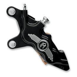 Black Anodized Aluminum/contrast Cut Performance Machine 6-piston Frt Cc Caliper Lt 11.5 Bk Flh T Flst Fxd St Vrsc Xl