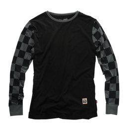 100% Mens Shibuya Long Sleeve Graphic T-Shirt Black