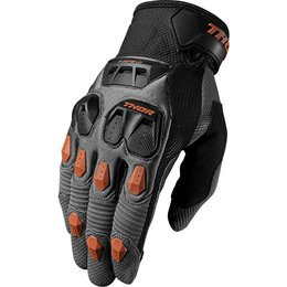 Thor Mens Defend Touch Screen Capable Textile Gloves Grey