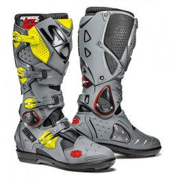 Sidi Mens Crossfire 2 SRS Offroad Motocross Riding Boots Grey
