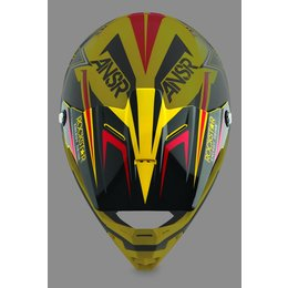 Rockstar Vi Answer Replacement Visor For Evolve Helmet Black Yellow Red