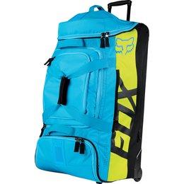 Fox Racing Shuttle Print Wheeled Gear Bag Blue