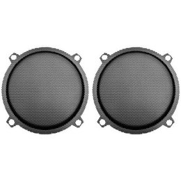 Hawg Wired UG5252 Punched Steel Mesh Speaker Grills Pair Black For H-D FLHT FLHX