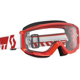 Scott USA Split OTG MX Offroad Anti-Fog Goggles Red