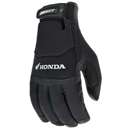 Black Joe Rocket Mens Honda Crew Touch Textile Gloves 2014