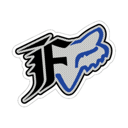 Blue Fox Racing Oxidize Sticker Decal 4.5 Inch
