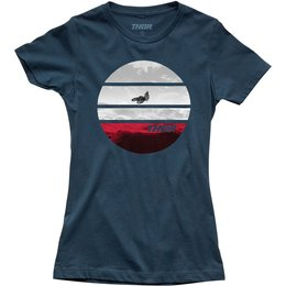 Thor Womens Planet Crew Neck T-Shirt Blue