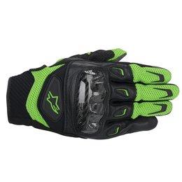 Green, Black Alpinestars Mens Smx-2 Air Carbon Leather Textile Gloves 2014 Green Black