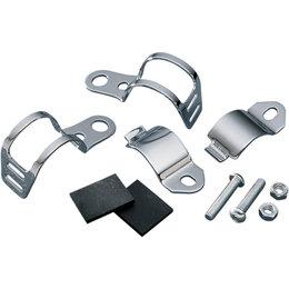 Drag Specialties Fork-Mount Marker Light Brackets Pair Chrome DS-285052