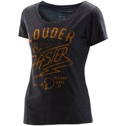 Troy Lee Designs Womens Louder Polyester Blend Scoop Neck T-Shirt Black