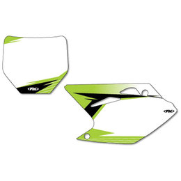 White Factory Effex Graphic #plate Background For Kawasaki Kx 09-10