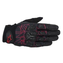 Black, Red Alpinestars Mens Masai Textile Gloves 2014 Black Red