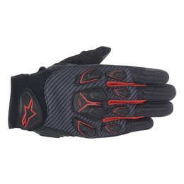 Black, Cool Grey, Red Alpinestars Mens Masai Textile Gloves 2014 Black Cool Grey Red