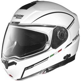 Metal White, Black, Silver Nolan Mens N104 Storm Modular Helmet 2014 Metal White Black Silver