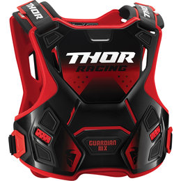 Thor Guardian MX Roost Guard Chest Protector Red