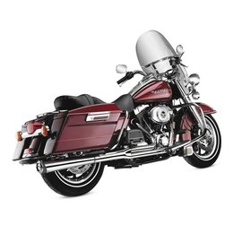 Chrome Supertrapp 2:1 Supermegs Exhaust For Harley Fxd 06-11
