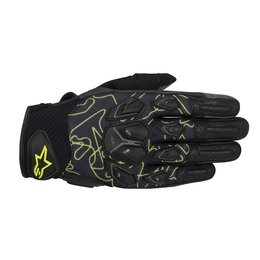 Black, Fluorescent Yellow Alpinestars Mens Masai Textile Gloves 2014 Black Fluorescent Yellow