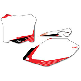 White Factory Effex Graphic #plate Background For Honda Crf 09