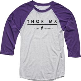 Thor Womens MX 3/4 Sleeve Raglan T-Shirt Purple