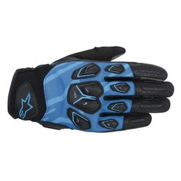 Black, Blue Alpinestars Mens Masai Textile Gloves 2014 Black Blue