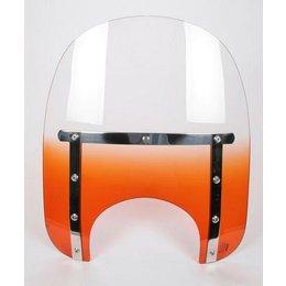 Memphis Shades Slim 15 Windshield 7 Inch Cutout Orange