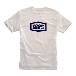 100% Mens Essential Cotton Blend Graphic T-Shirt White