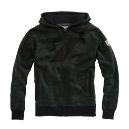 100% Mens Brigade Cotton Blend Zip-Up Hoody Black
