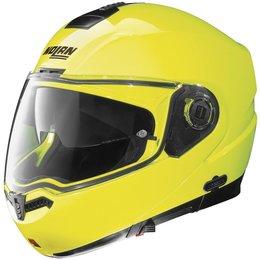 Yellow Nolan Mens N104 Hi-visibility Modular Helmet 2014