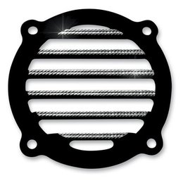 Black Covingtons Speaker Grills Diamond For Harley Flht Flhx 96-10