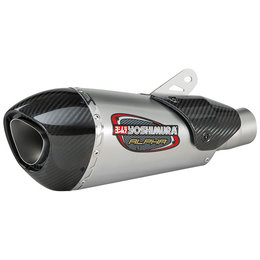 Yoshimura Alpha T Street Works Slip-On Exhaust Suzuki Stainless 11182BP520 Unpainted