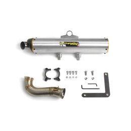 Stainless Steel Midpipe, Aluminum Muffler Two Brothers Racing M-7 Vale Slip-on Exhaust Stainless Alum For Can Am Commander