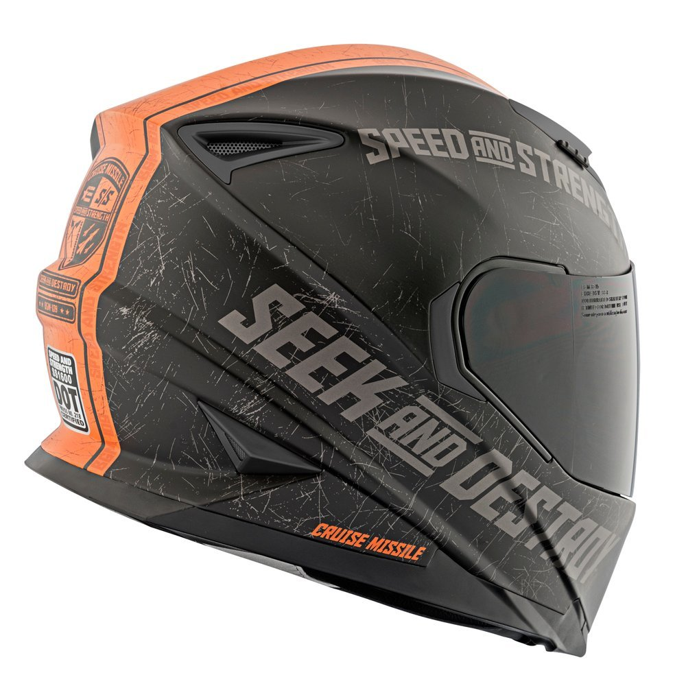 Cool Full Face Motorcycle Helmets >> Speed Strength Ss1600 Cruise Missile Full Face Helmet