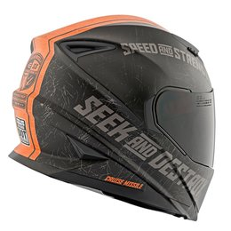 Matte Black, Orange Speed & Strength Ss1600 Cruise Missile Full Face Helmet Mt Black Orange
