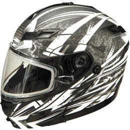Flat Black, White Gmax Gm54s Modular Snow Helmet With Dual Pane Shield Flat Black White