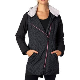 Fox Racing Womens Magnitude Water-Resistant Sherpa Lined Jacket Black